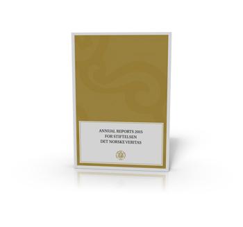 Cover annual reports 2015 for Stiftelsen Det Norske Veritas